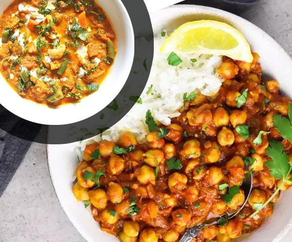 Duo Chana Masala et légumes curry