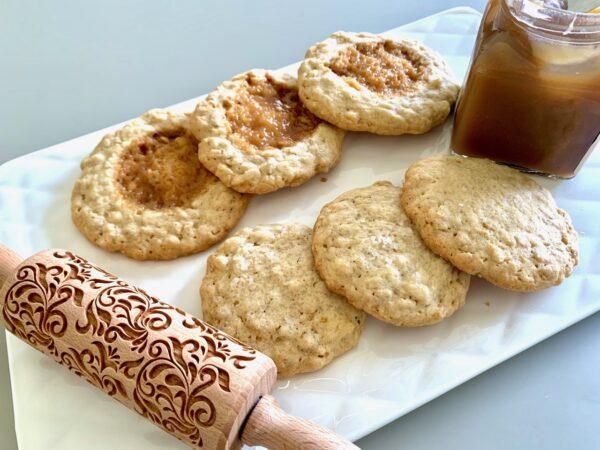 Biscuit avoine, caramel fleur de sel